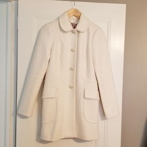 Juicy Couture single breasted wool blend coat